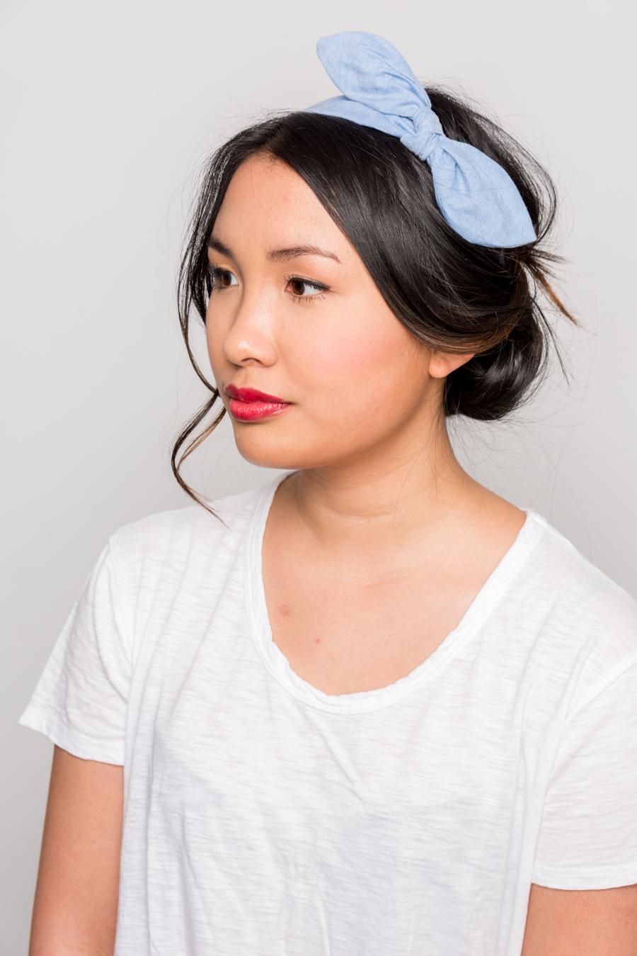 How To Do An Easy Headband Updo 夏にオススメの簡単ヘアアレンジ 13