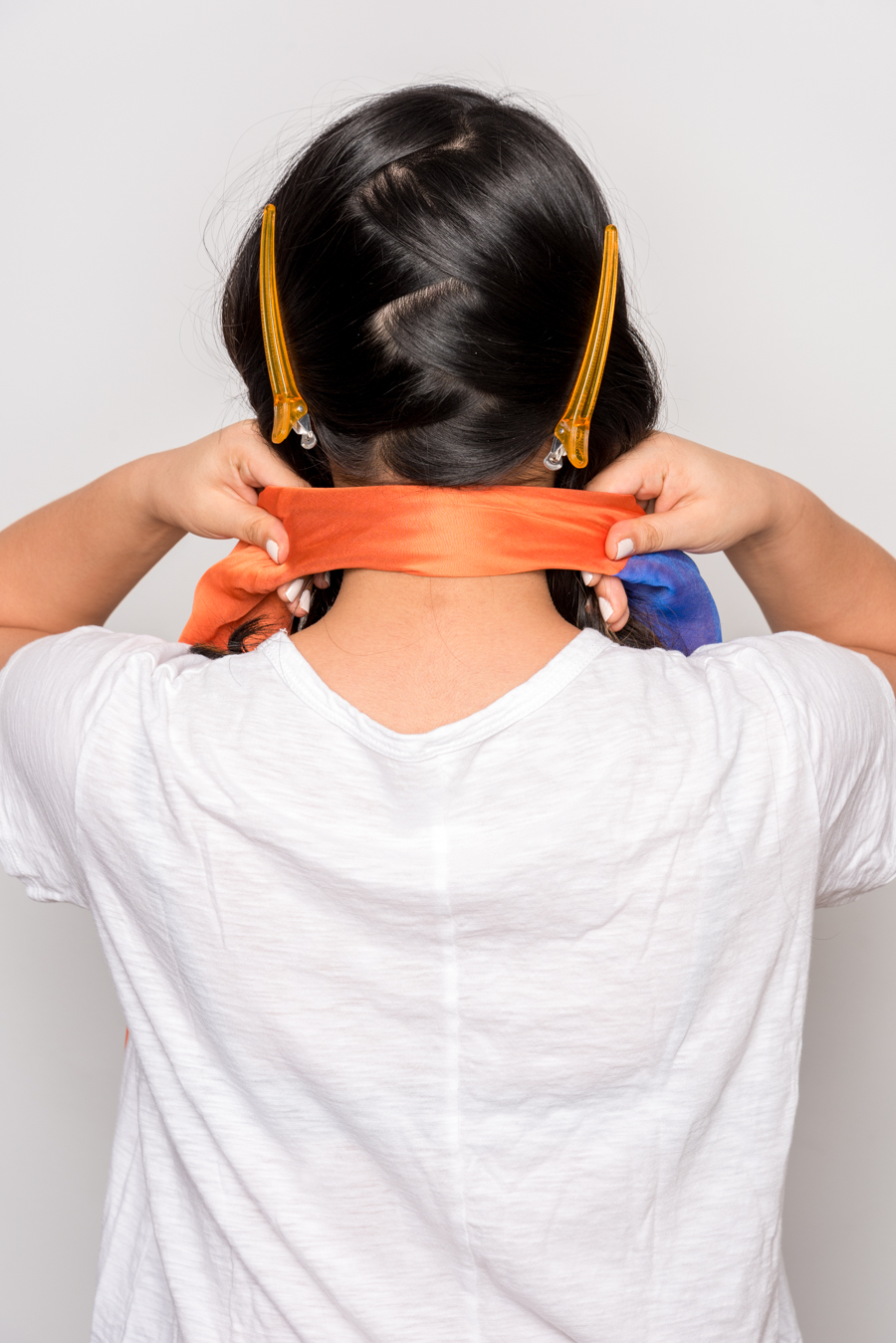 How To Use A Scarf For Stylish Summer Hair スカーフを使った簡単ヘアアレンジ 3