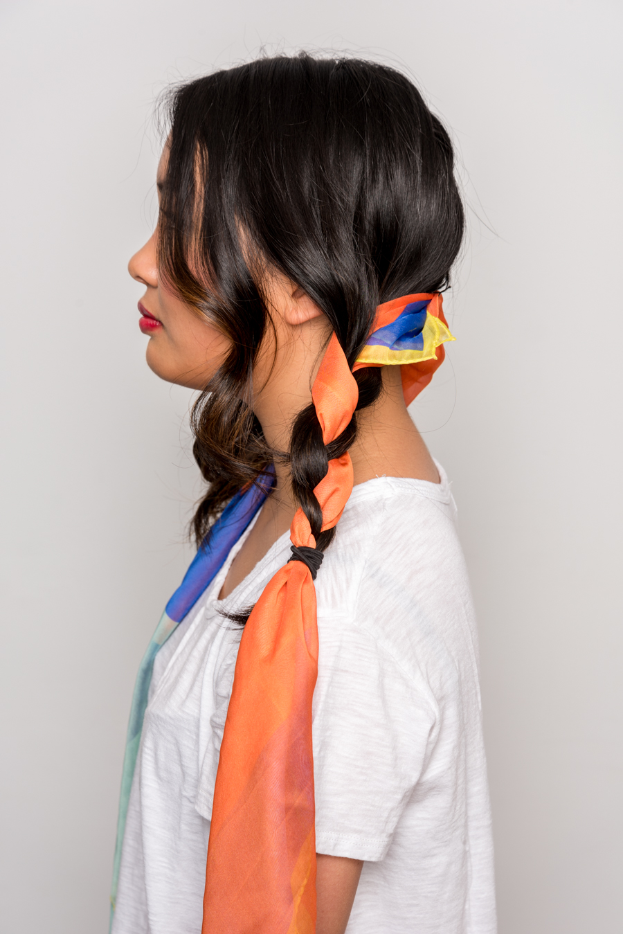 How To Use A Scarf For Stylish Summer Hair スカーフを使った簡単ヘアアレンジ 8