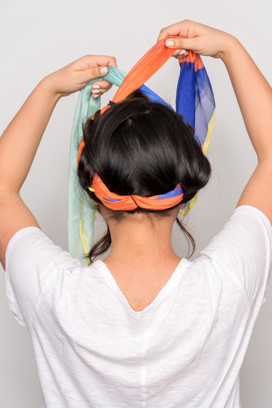 How To Use A Scarf For Stylish Summer Hair スカーフを使った簡単ヘアアレンジ 10