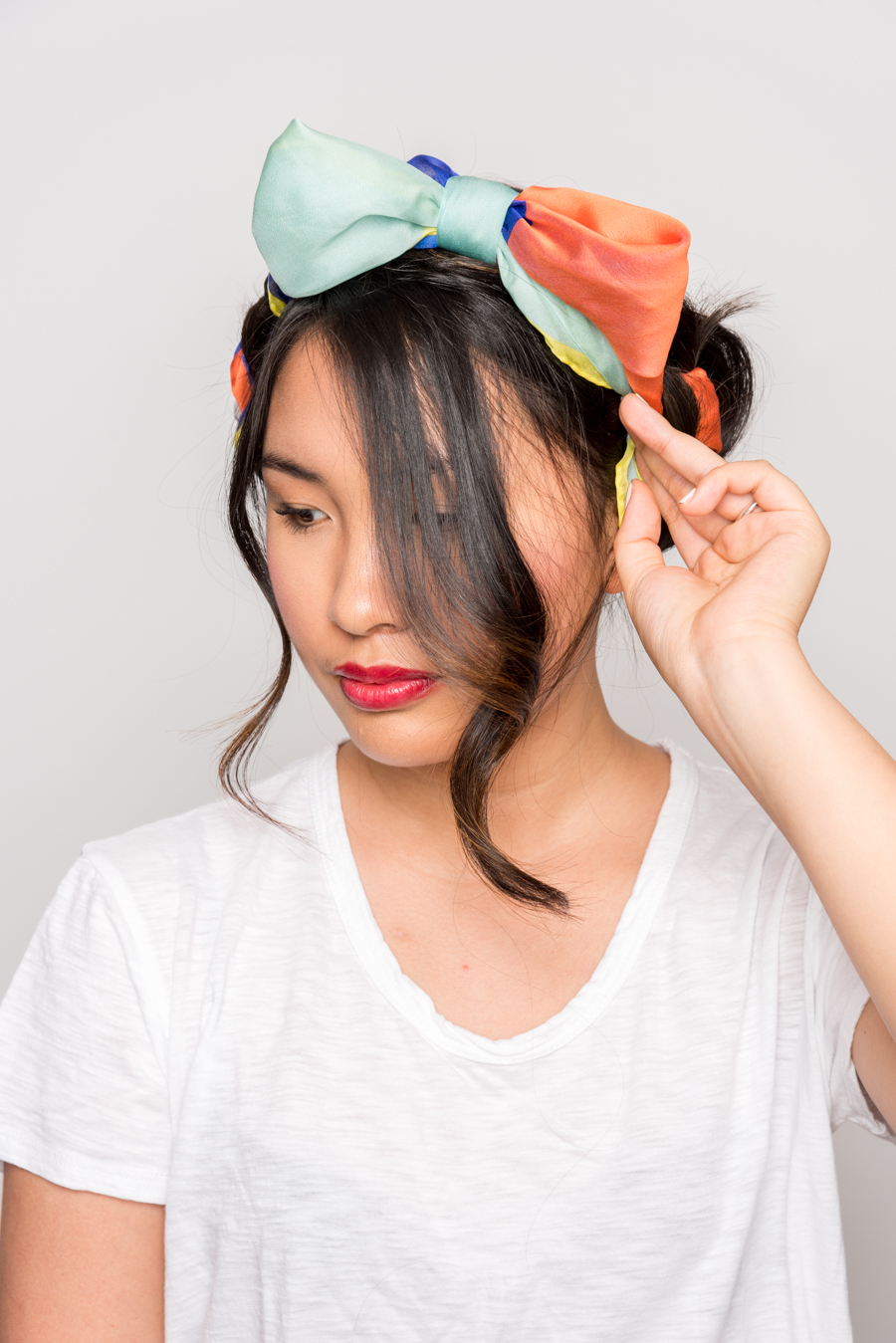 How To Use A Scarf For Stylish Summer Hair スカーフを使った簡単ヘアアレンジ 13