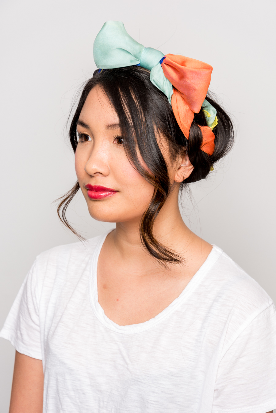 How To Use A Scarf For Stylish Summer Hair スカーフを使った簡単ヘアアレンジ 14