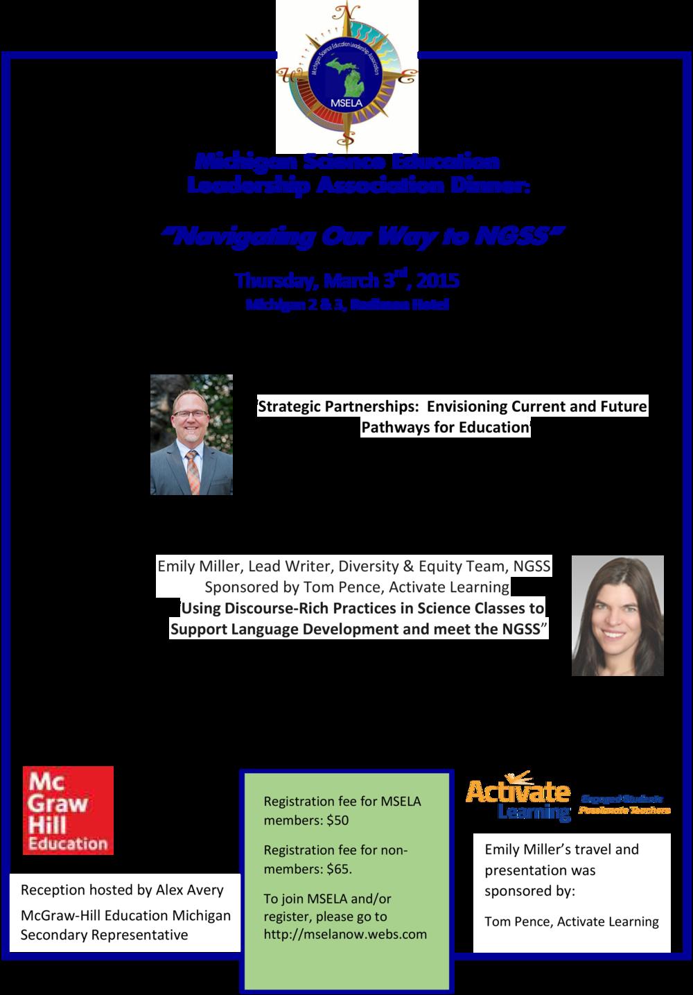 Activate Learning sponsors Emily Miller MSELA