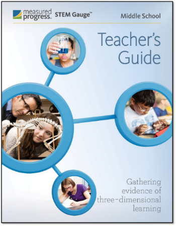 Teacher's Guide explains how to gather       evidence of 3 dimensions of learning.