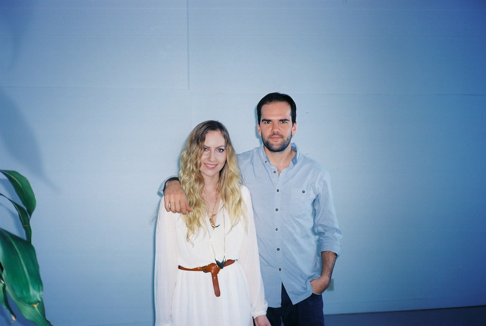 LYON and I in the studio, shooting her new video for Lullaby. Watch it here.