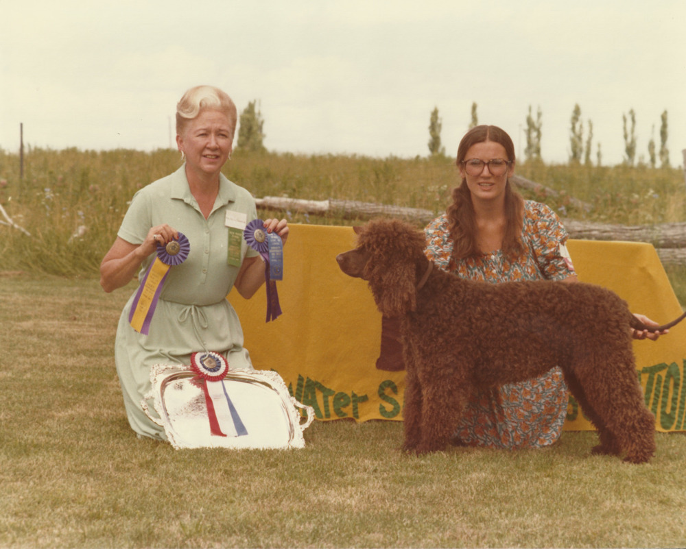 """#tbt Maggie Ker with the award winning """"Mr. Muggins"""". 1977."""