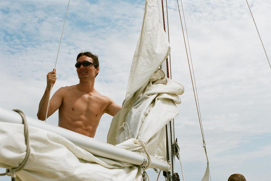 Sailing. Toronto Islands. August 2013.
