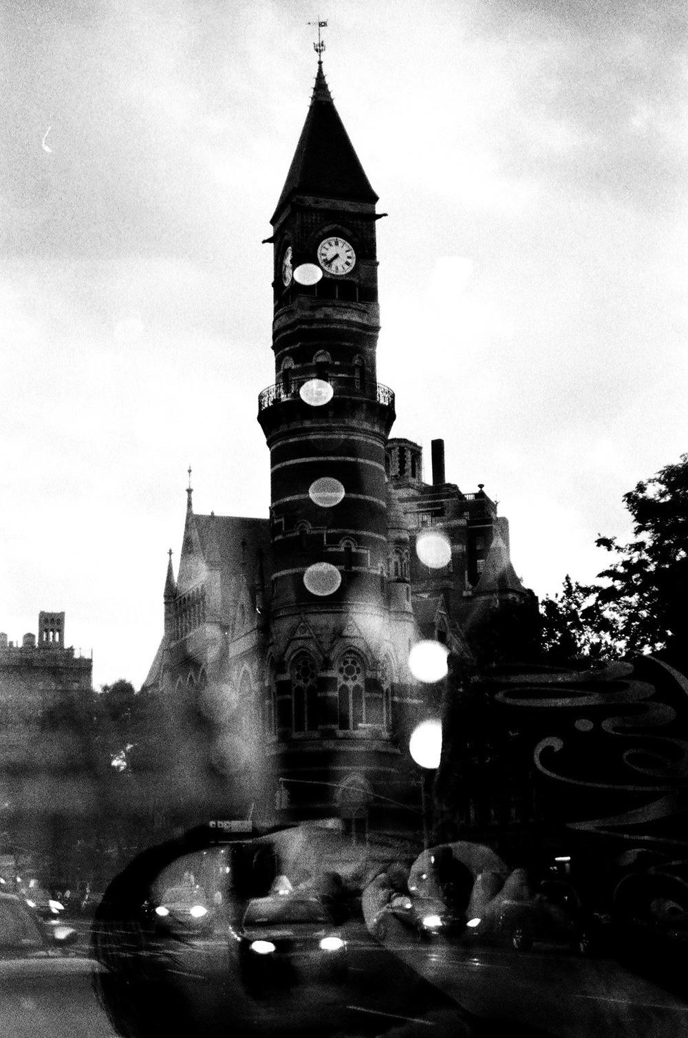 clock tower & thomas. new york city. august 2012. #Kodak #t-max #400
