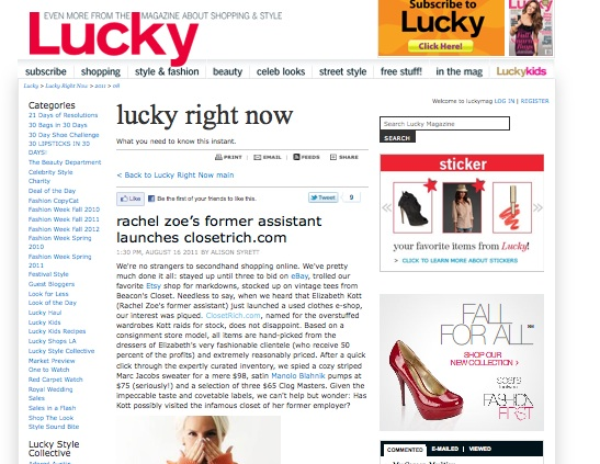 Rich +  Lucky , marvelous combo    * must note: was not assistant, but content manager of the zoe report… sign up !