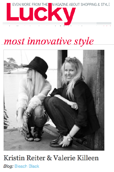 mazel! val + kristin for being named most innovative blog by  Lucky Magazine .