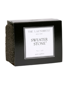 essential in the Closet Rich arsenal:  Sweater Stone  by The Laundress, this thing is fucking genius.