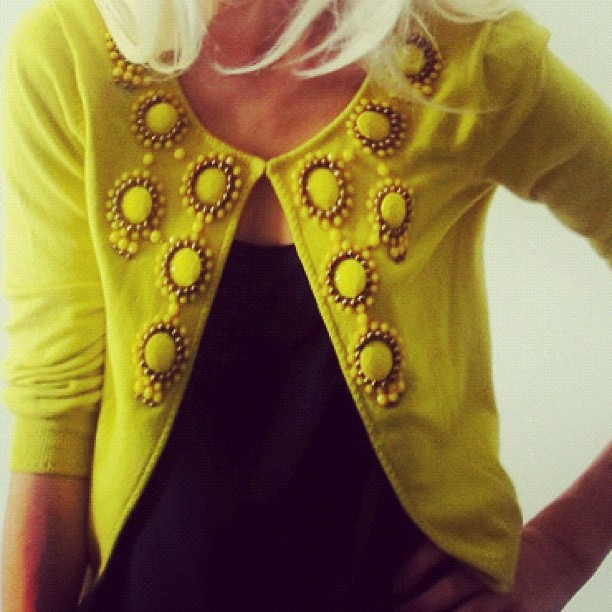 Black + Yellow. Milly, $70 (Taken with instagram)