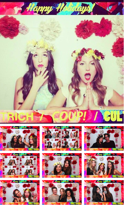 A Rich Cult. Photobooth fun from our party w/ Cult Gaia Photobooth by FoxTales +  CR logo'd Gaia-inspired paper flowers by @jeremyadriana