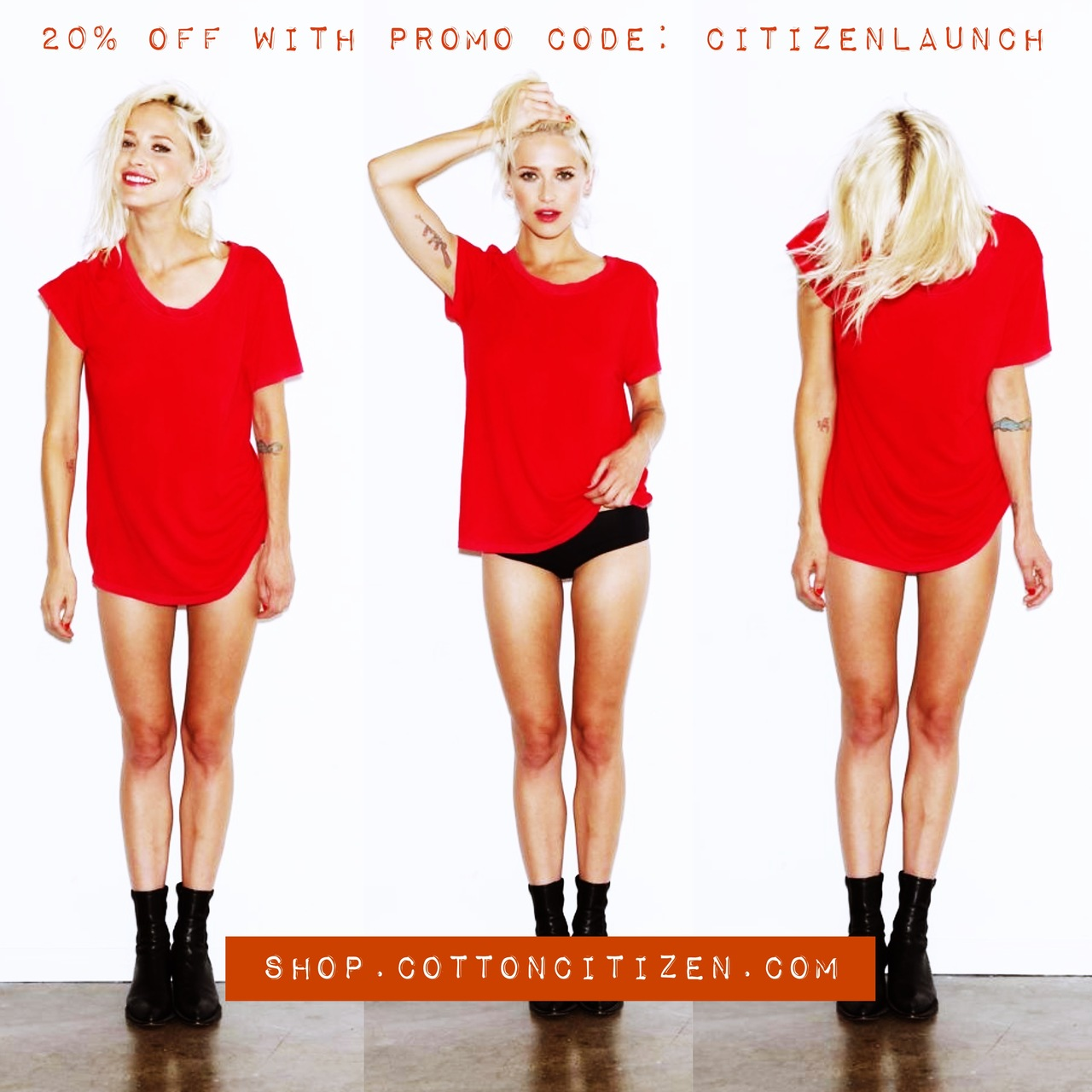 RICH THING: Cotton Citizen's  Tee Shop  has just launched.   Get 20% off w/ Citizen Code: citizenlaunch   u r welcome.