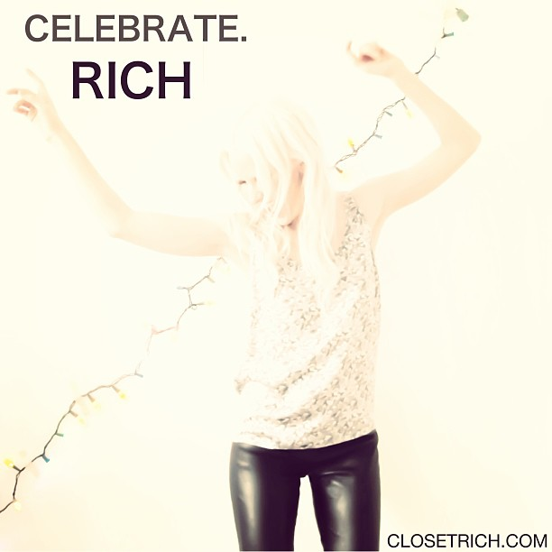 Wishing a happy + healthy to all! Here's to keeping it real rich 2013. 💰💃💸