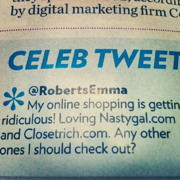love this shout out from Emma Roberts in People Style Watch <3