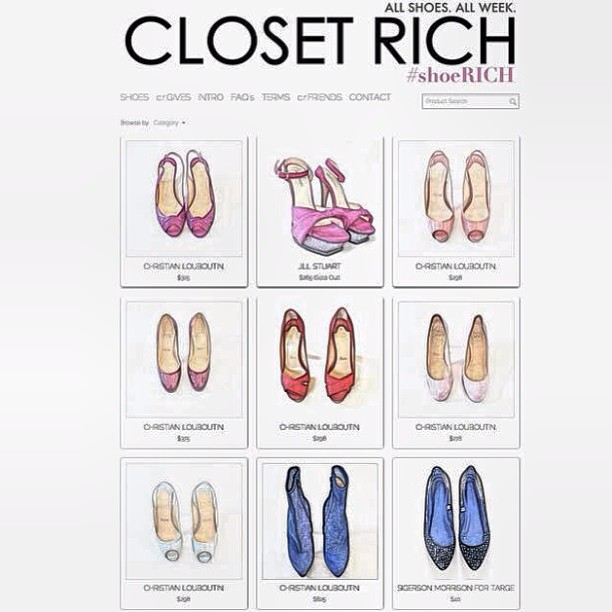 ALL SHOES. ALL WEEK. #shoeRICH (at closetrich.com)