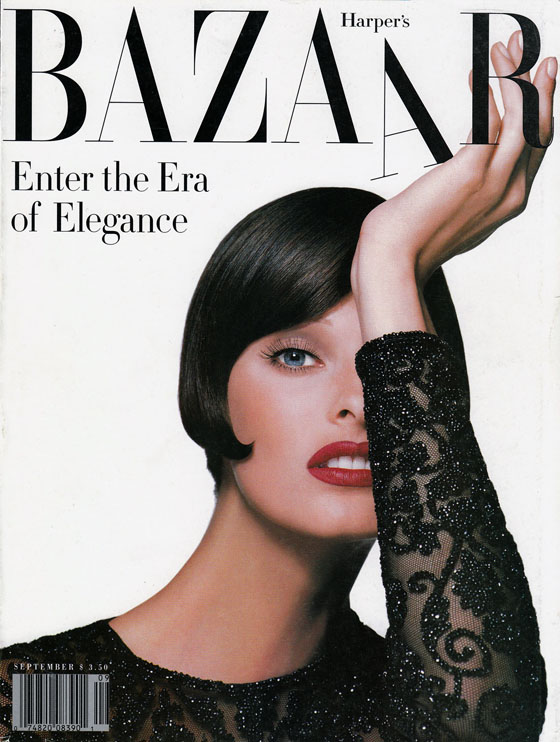 Flashback Friday: 1992…The Era Of Elegance #closetrich Harpers Bazaar US - September 1992  Ph Peter Lindbergh Model: Linda Evangelista