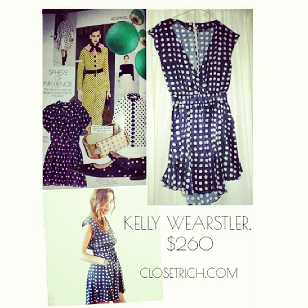 Round out the closet with this polka dot @kellywearstler number… B/c @elleusa says so.