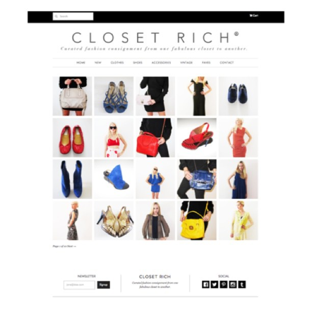 Mad Rich Alert: CR got a makeover ! Huge thanks to our friends at #goodsie for all their fab work/werq 💅👠💇🚬💃 (at closetrich.com)