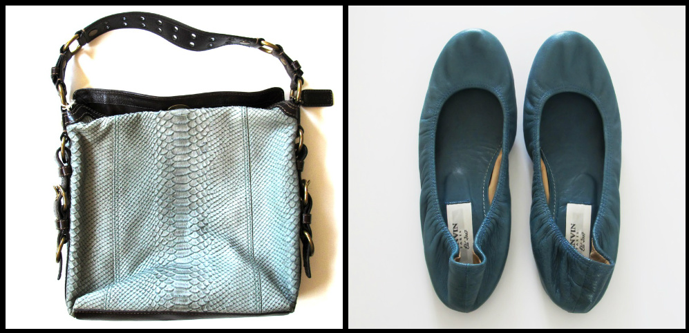 Closet Rich Match Making Coach Teal Alligator Bag, $125   x   Lanvin Teal Leather Flats, $160