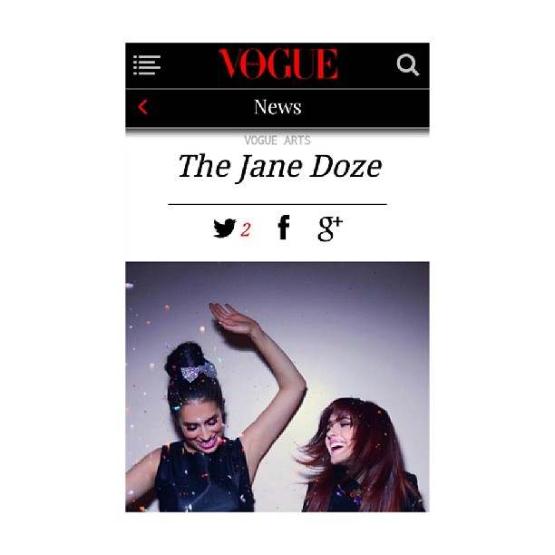 Photo shoot we styled for @thejanedoze ft. on @VogueItalia today! Photog: @shervinfoto Hair/Makeup: @rommynajor