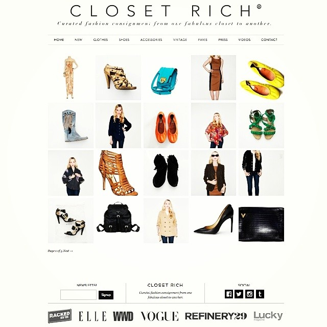 Thanks to @refinery29 for including #ClosetRich in their round up of Online Resale Shops Worth Knowing!! New (old) stuff up today! Tap for brands // double tap to further validate us electronically?….just typin