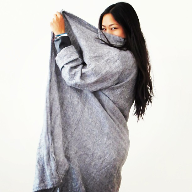 """This vintage grey linen schmata thing is new to the site & almost as fun to wear as the word ""schmata"" is to say"" via  @closetrich                                                 *GET. IT.  HERE *"