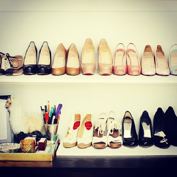 Our office's shoe closet shot by Miha Matei for Glamour.com
