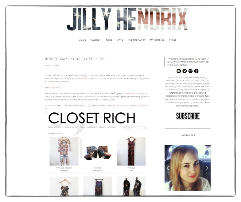 NY dj + all around rad chick, Jilly Hendrix ( @jillyhendrix), hearts us :) Read what she has to say about CR here.