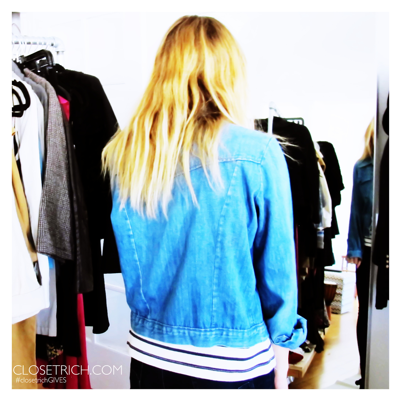 Vintage Chambray Jacket, $110 **50% of proceeds going to Waves for Water's Hurricane Sandy Relief Initiative