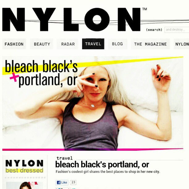 Spotted!  Our girl Kristin Reiter online for  Nylon Magazine , shot and styled by our own Elizabeth Kott.  Read on and plan a trip to Portland folks.   On Kristin:   Cotton Citizen , made in the USA