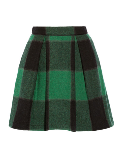 Sea Buffalo Plaid Skirt,  $350