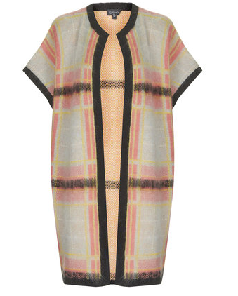 Topshop Check Cape, $130