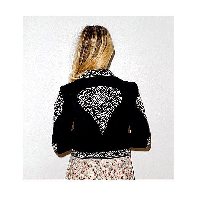 Vintage Bolero wool blazer w/ toggle buttons, $138.00 (size: s, condition: great) #vintage #bolero #blazer #embroidered #detail #wool #blackandwhite #trends #losangeles #newyork #lotd #ootd #lotn #ootn #whatiwore #closetrich