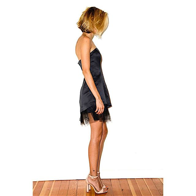 BCBG Strapless black mini dress with tulle detailing at bottom, $75.00 (condition: great) #bcbg #blackdress #littleblackdress #minidress #tulle #asymmetrical #fashion #style #lotd #whatiwore #lotn #summer #losangeles #newyork #chic #timeless #ootd #ootn #closetrich