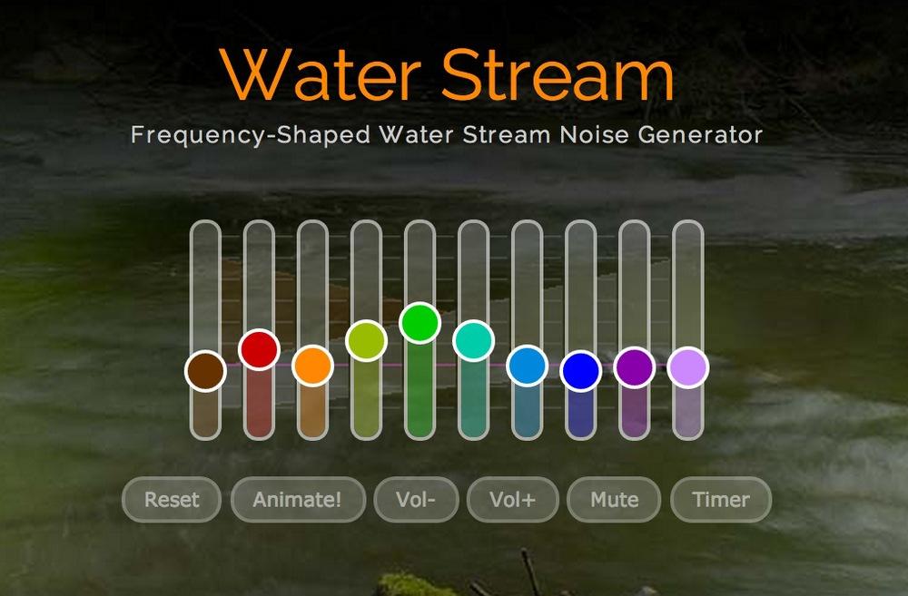 http://mynoise.net/NoiseMachines/waterStreamNoiseGenerator.php