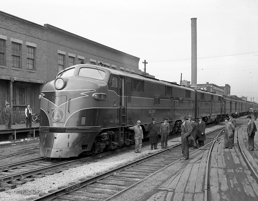Springfield could have had high-speed passenger rail service in 1945. Neil Souders, division passenger agent for the Alton Railroad, told The Illinois State Journal that a new streamlined diesel locomotive put into service March 1 of that year had a speed limit of 75 mph. Souders didn't offer specifics, but he added that the 4,000-horsepower engine was capable of much greater speeds. The Alton line ran on tracks now owned by Union Pacific and on which Amtrak operates. On its first day, the sleek new engine pulled the Abe Lincoln train through Springfield twice, arriving at 10:46 a.m. on its way north from St. Louis to Chicago and again at 7:59 p.m. on its return trip. Published March 1, 2014. File/ The State Journal-Register