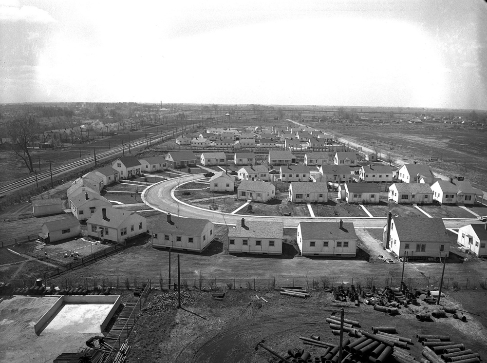"If you live in the area of First Street south of Ash Street, you'll recognize the semi-circular layout of Ruth Court, foreground, Belle Place and Bonnie Court. The Charles S. Wanless development was built in early 1943 and was the ""finest popular, price-protected residential section of Springfield,"" according to the Illinois State Journal. It was located in the Lawrence School district, and the Lowell Avenue bus stopped at the corner of First and Ash streets. Gail Homes Inc. was the builder and boasted of using plastic bonded plywood, the ""strongest and most rigid material"" available at the time. Exterior walls, ceilings and floors were thoroughly insulated with the newest materials and included the ""added value of dead air spaces."" The homes weren't big; they had just four rooms, a hallway, a bathroom and a full basement. You could buy or rent, with rents ranging from $38 to $50 monthly. From the look of the well-kept neighborhood today, it appears to have been a good investment. Published May 10, 2014. File/ The State Journal-Register"