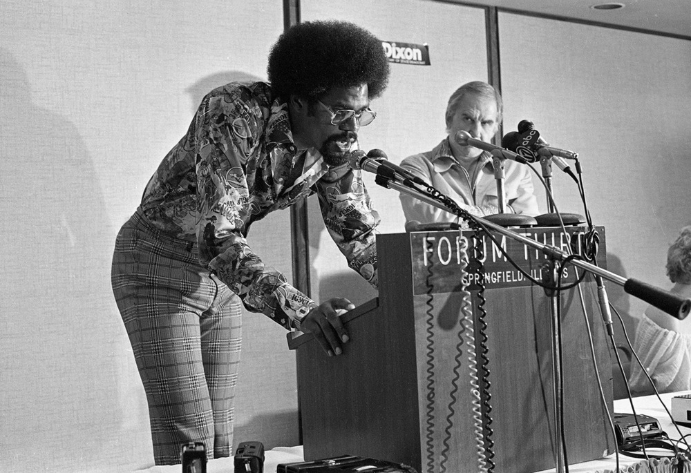 When you're 7-foot-2 inches tall, the average microphone stand just doesn't measure up. That's what the Chicago Bulls Hall of Fame center Artis Gilmore found when he spoke at a press conference this day in 1977 at the Forum Thirty, which is now the Hilton Springfield. Gilmore, television personality Ed McMahon, right, and a random assembly of sports and pop culture personalities from that decade came to Springfield to help open White Oaks Mall. Among the other guests were Billy Carter, President Jimmy Carter's younger brother and the namesake of Billy Beer; Olympian Bruce Jenner; tennis showman Bobby Riggs; soap opera star Tom Hallick and Lou Brock of the St. Louis Cardinals. The press conference was a prologue to the following day's grand opening spectacle, a production on a scale to match the size of the mall itself. Buses began running at 6:45 a.m. from the downtown Kmart, which made it possible to get a good seat for the hot air balloon race that began at 8:00. And that was just the start. To learn more about the day White Oaks opened, be sure to read Flashback Springfield in Monday's State Journal-Register. File/The State Journal-Register