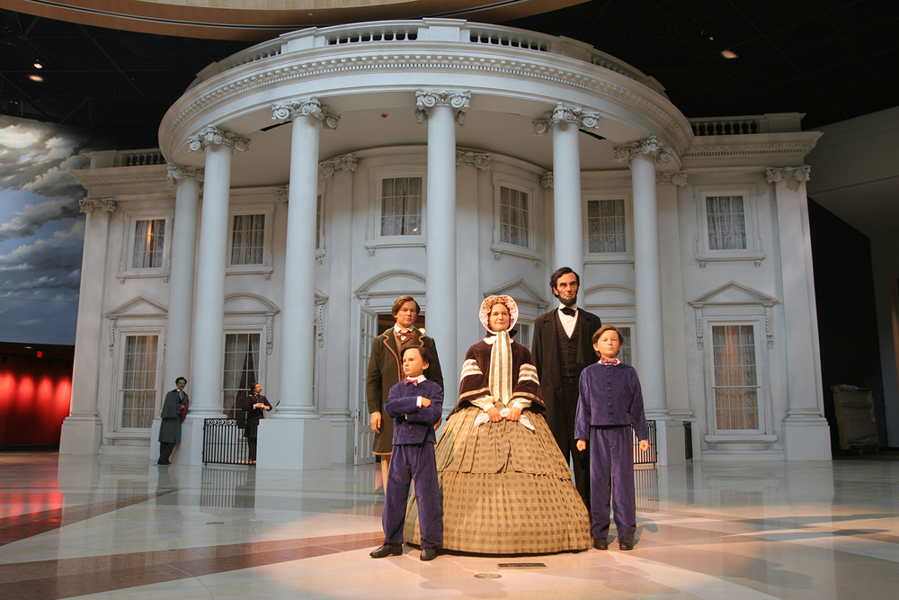 Life size figures of the Lincoln family greet visitors to the rotunda of the Abraham Lincoln Presidential Museum. From left are Robert, Tad, Mary, Abraham and William. Rich Saal/The State Journal-Register