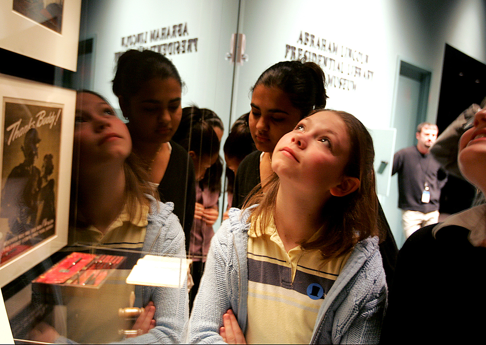 Emma Ross, 12, tours the Abraham Lincoln Presidential Museum with her Lincoln Magnet School classmates. File/The State Journal-Register
