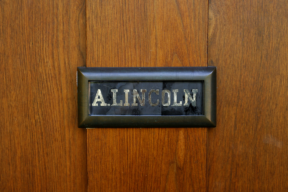 Springfield homes were not numbered until 1873. The Lincolns, like many of their Springfield neighbors, used a front door nameplate to identify their home to visitors. Rich Saal/The State Journal-Register