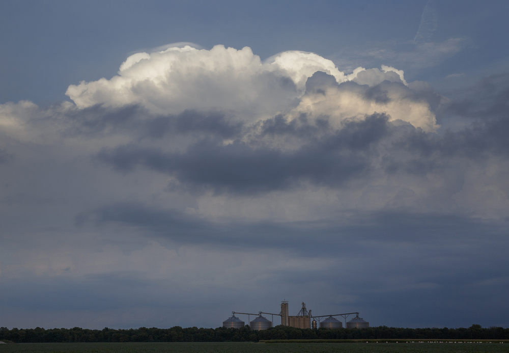 A storm builds over Sangamon County in view Saturday, Aug. 30, 2014 from Curran. Rich Saal/The State Journal-Register