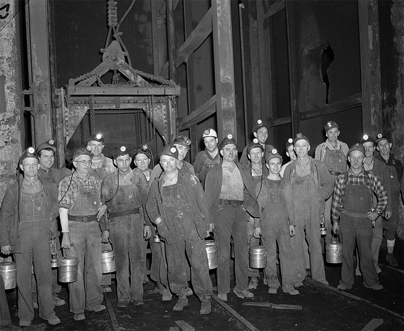 Miners and maintenance men went back to work at the Peabody Mine No. 7 at Kincaid just hours after a settlement was reached on March 5 between the United Mine Workers of America and mine operators. It ended a monthlong strike that drove coal supplies dangerously low. File photos/The State Journal-Register