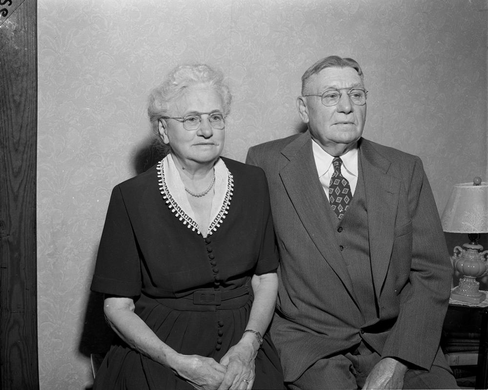John and Anna Werner, 908 S. Fourteenth St., celebrated their 50th wedding anniversary and the 25th anniversary of their son and his wife, Edward and Alma Werner on Thanksgiving Day, 1955 with dinner at The Mill restaurant and an open house afterward. John Werner was a native of Germany and worked for years as a city prison guard. They were the parents of seven children and had 20 grandchildren and one great-grandchild. All were expected to attend the celebration.