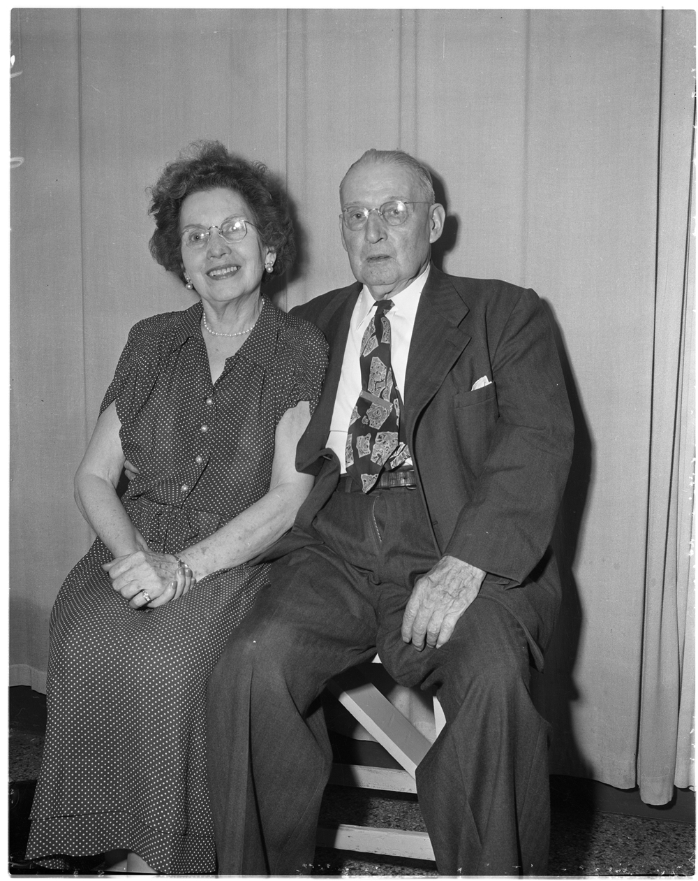 James and Margaret Moore of Chicago, formerly of Springfield, celebrated their 50th anniversary in June  1954 with a Mass of Thanksgiving at St. Joseph's Church where they were married in 1904. A breakfast for immediate family at the Southern Air, followed by a reception for friends and relatives was also held. Margaret Moore taught at the Sherman and Iles Junction schools before her marriage.  Mr. Moore was a retired grocer.