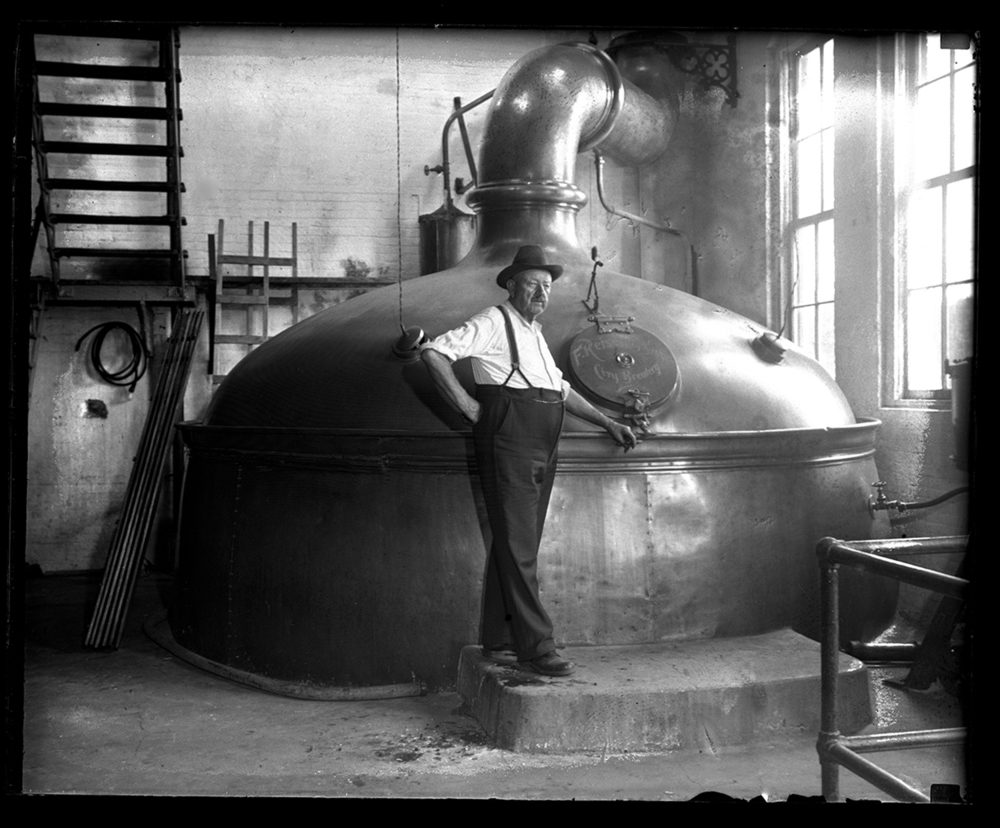 Conrad Griesser, brewmaster, F. Reisch and Sons brewery, in front of brew kettle with 360 barrel capacity, just days before the brewery reopened after Prohibition, July 8, 1934 (Reisch closed in 1966) File/The State Journal-Register.