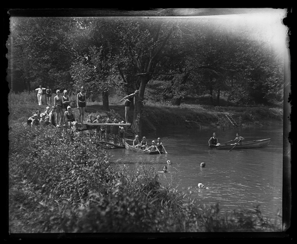 Girl Scouts enjoy a swimming hole at Camp Shuster, July 29, 1929. File/The State Journal-Register