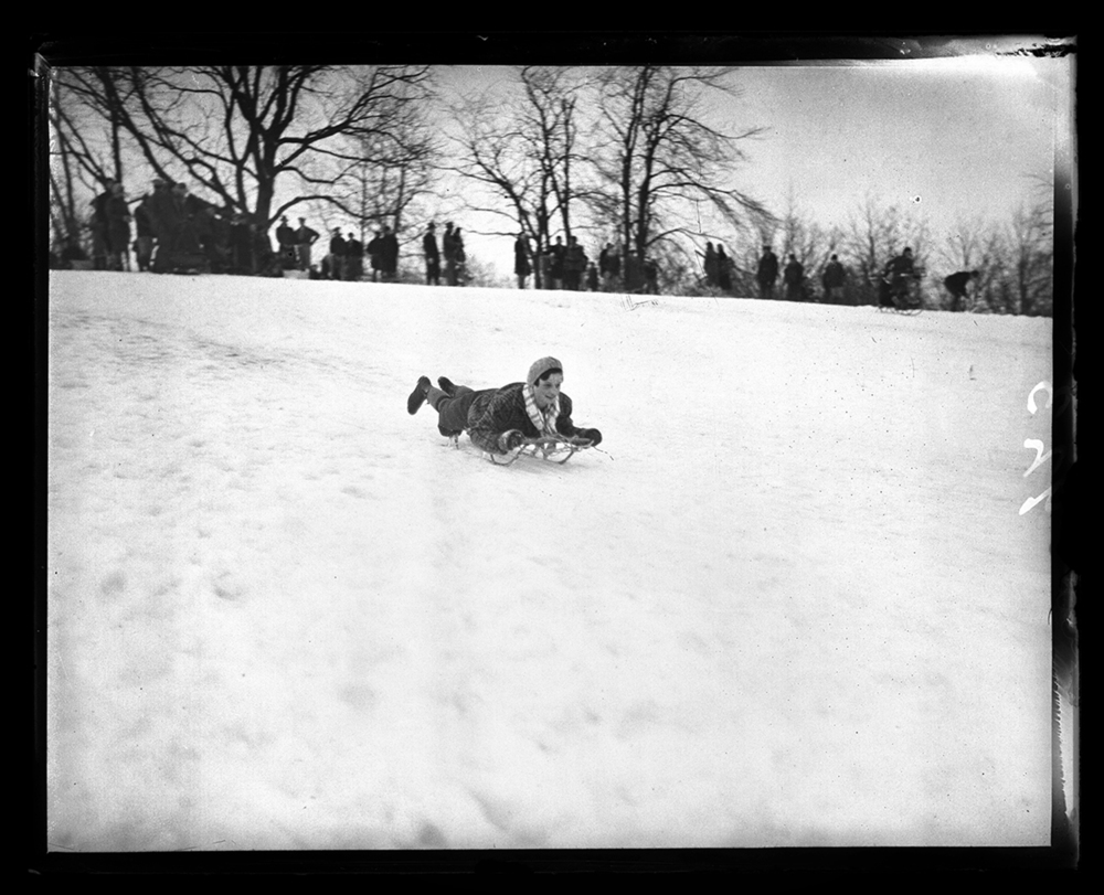Sledding at Pasfield Park, March 10, 1931. File/The State Journal-Register